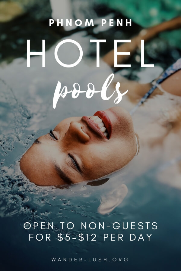 13 of Phnom Penh's best hotel swimming pools that are open to non-guests and drop-ins. The ultimate swimming pool Phnom Penh list!