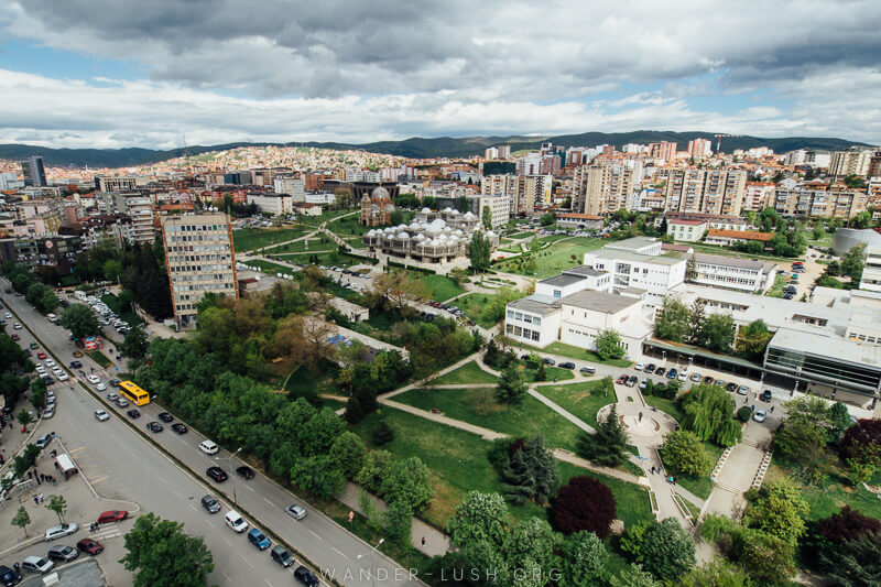 View of Prishtina city from the cathedral tower | Things to do in Prishtina city, Kosovo—including the best cultural attractions, designer cafes and architecture. Use this guide to plan your Kosovo travel!