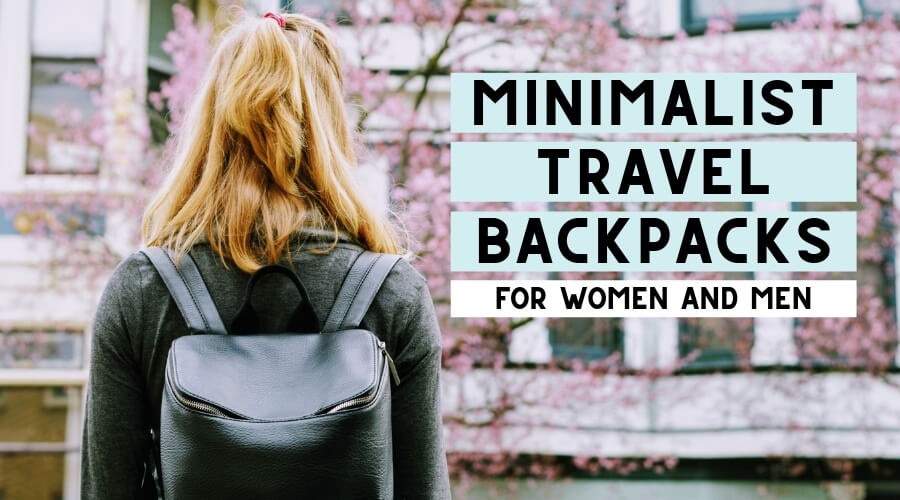 Minimalist backpacks for women and men.