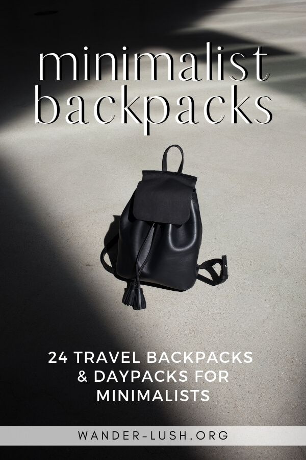 24 of the best minimalist backpacks for travel, including backpacking packs, day packs & hiking packs – all lightweight and with a streamlined design.