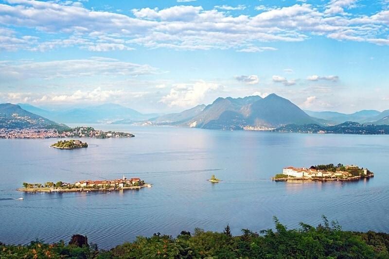 Italijos salų (Borromeanų) rinkinys Maggiore ežere.